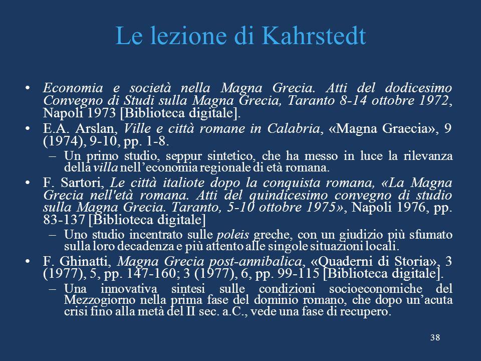 Le lezione di Kahrstedt
