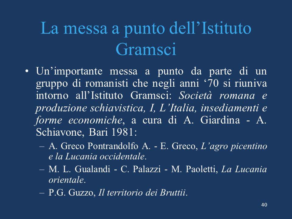 La messa a punto dell'Istituto Gramsci