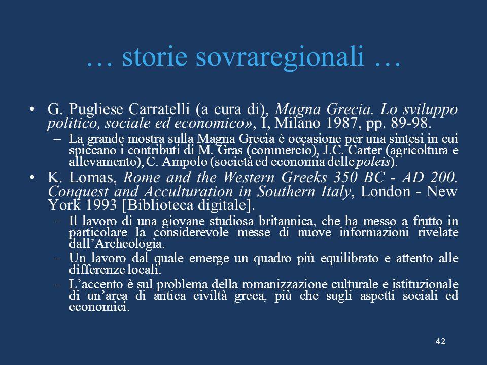 … storie sovraregionali …