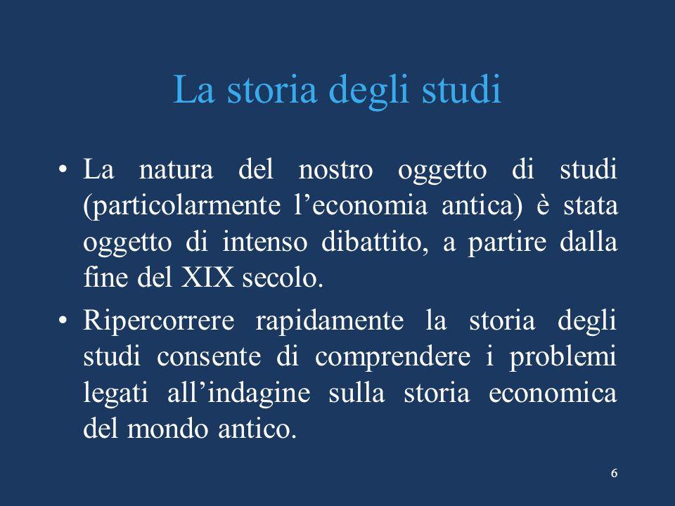 La storia degli studi