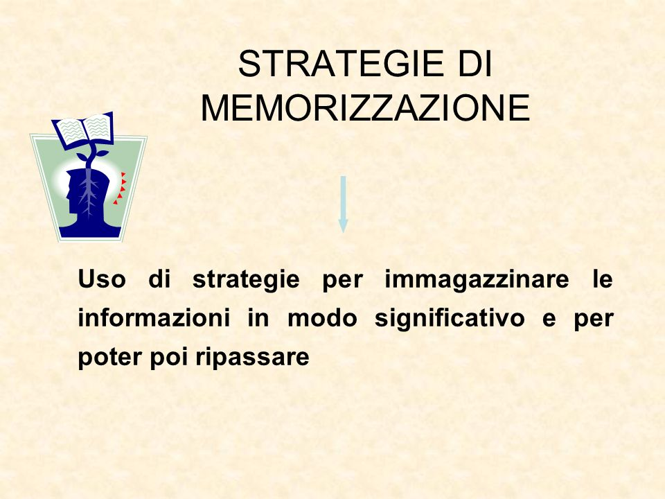 STRATEGIE DI MEMORIZZAZIONE