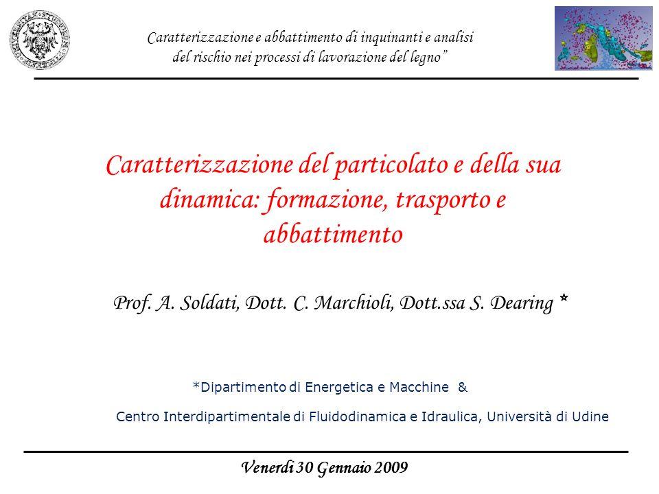 Caratterizzazione e abbattimento di inquinanti e analisi