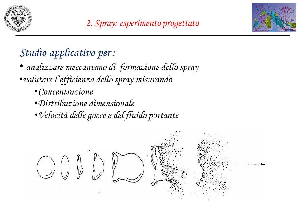 2. Spray: esperimento progettato
