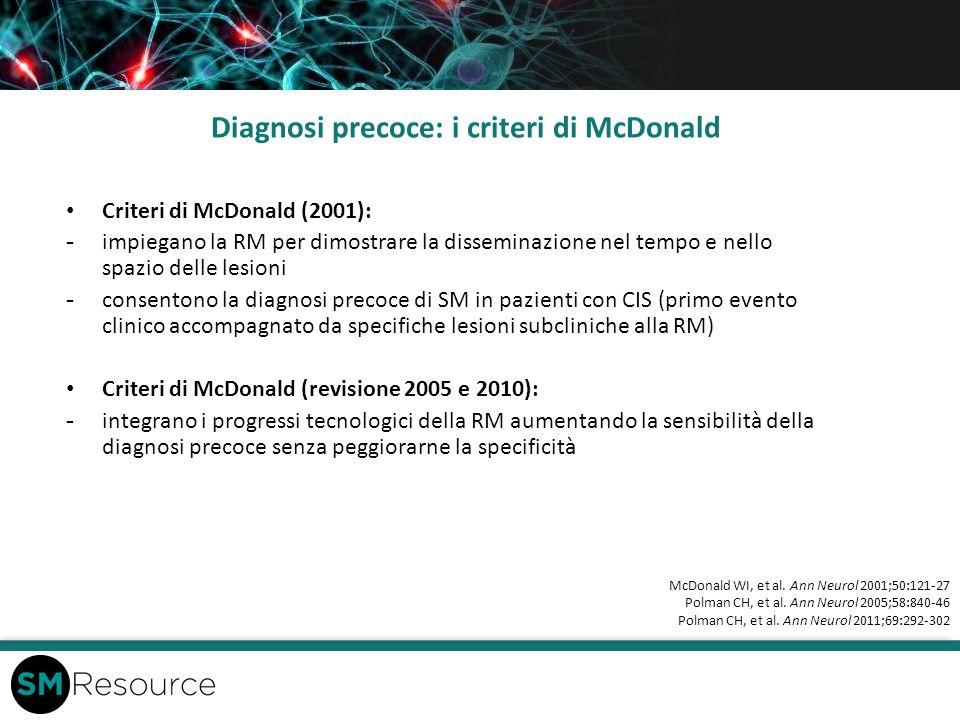 Diagnosi precoce: i criteri di McDonald