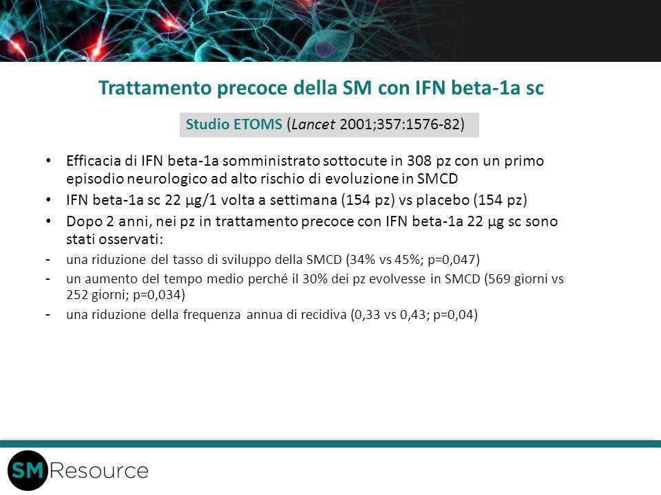 Trattamento precoce della SM con IFN beta-1a sc