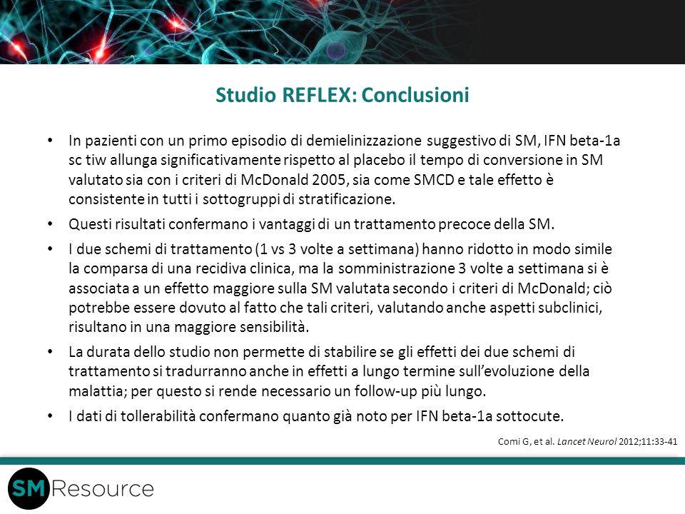 Studio REFLEX: Conclusioni