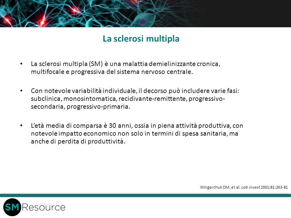 La sclerosi multipla La sclerosi multipla (SM) è una malattia demielinizzante cronica, multifocale e progressiva del sistema nervoso centrale.