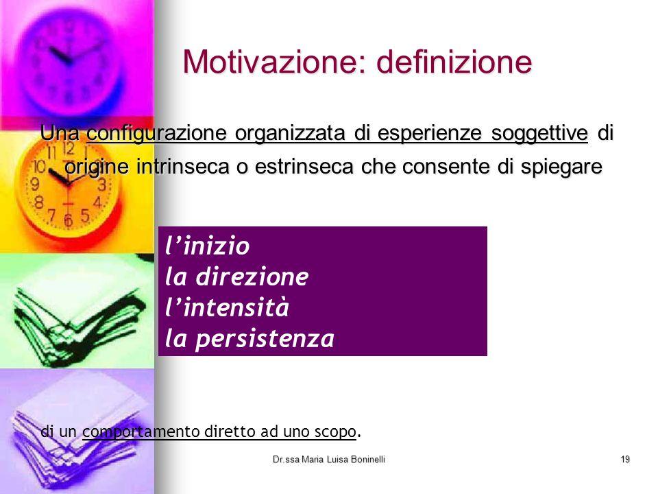Motivazione: definizione