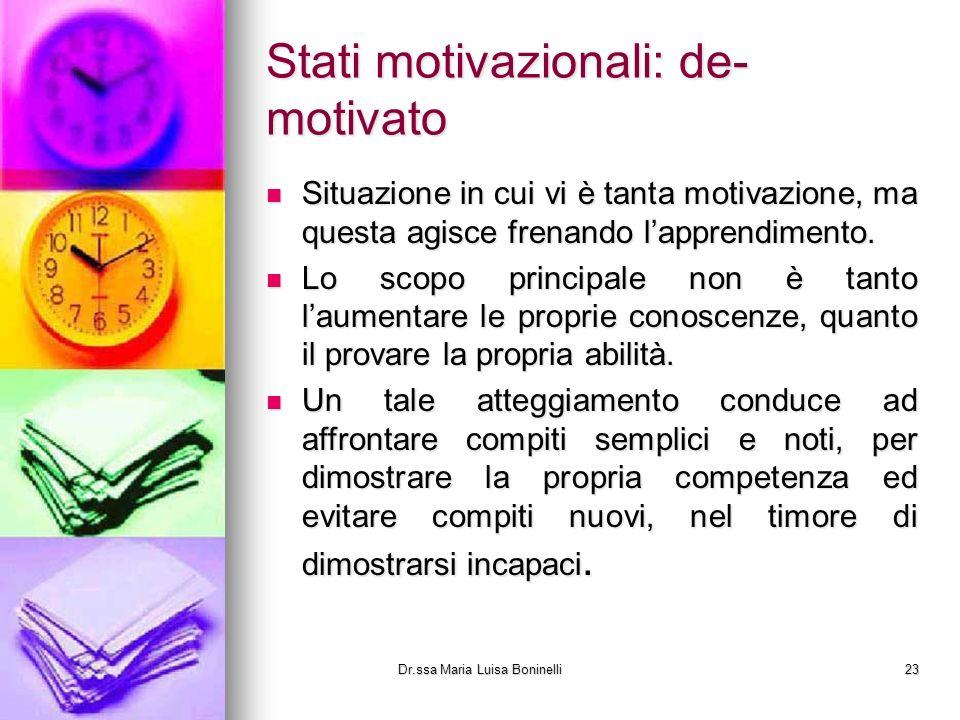Stati motivazionali: de-motivato