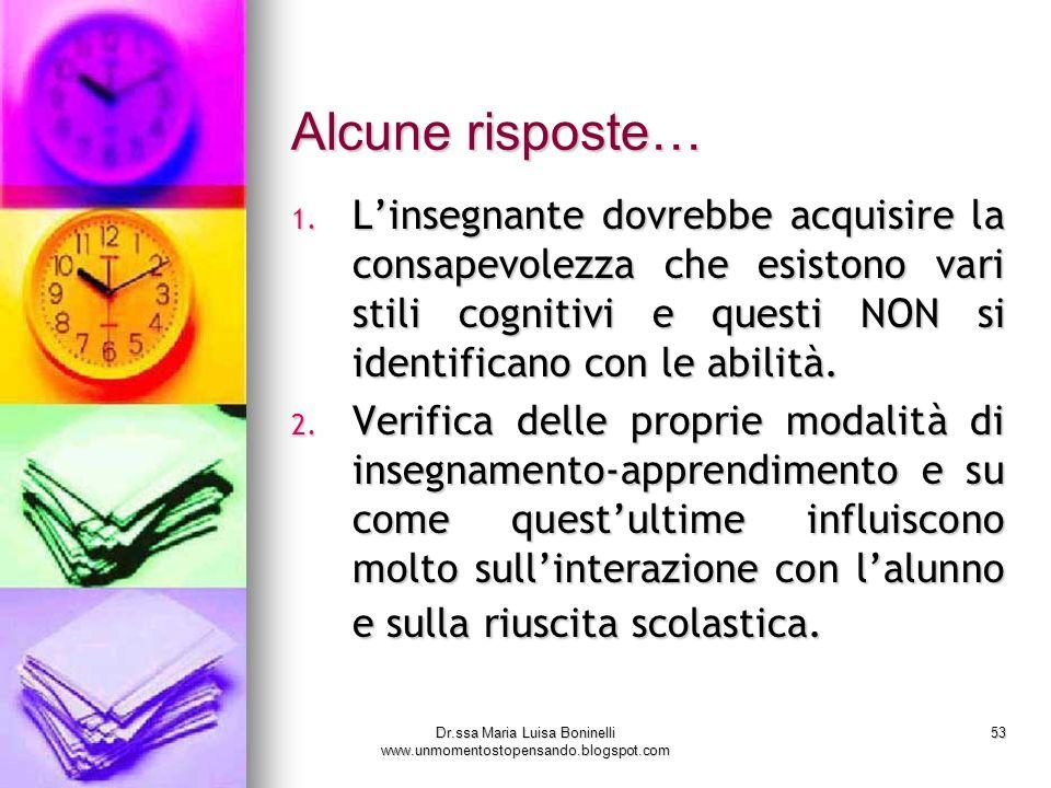 Dr.ssa Maria Luisa Boninelli www.unmomentostopensando.blogspot.com