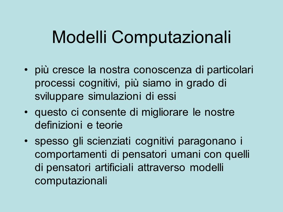 Modelli Computazionali