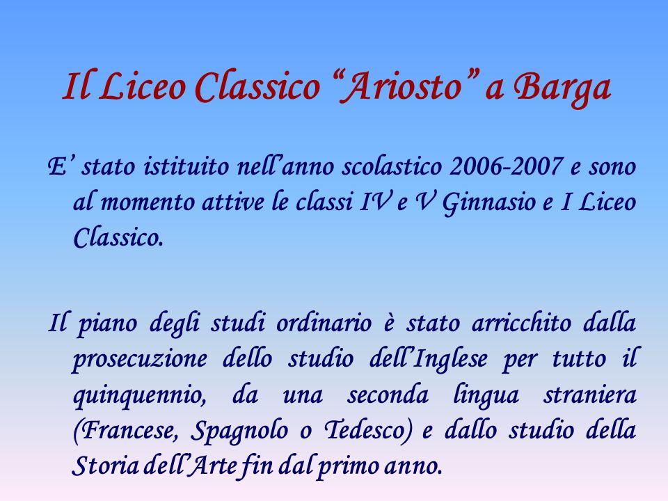 Il Liceo Classico Ariosto a Barga