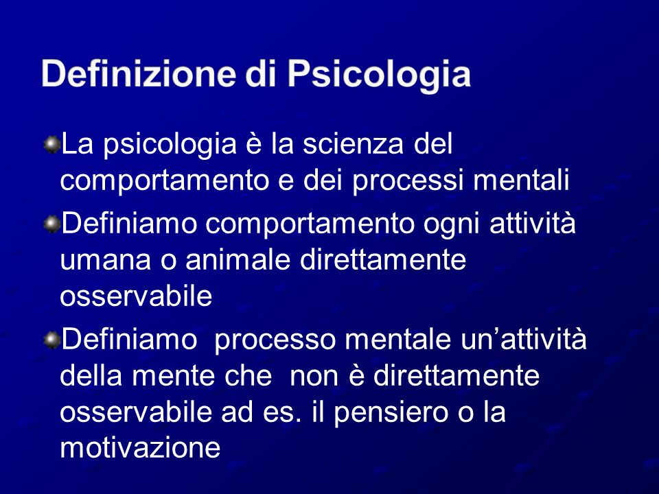 Definizione di Psicologia