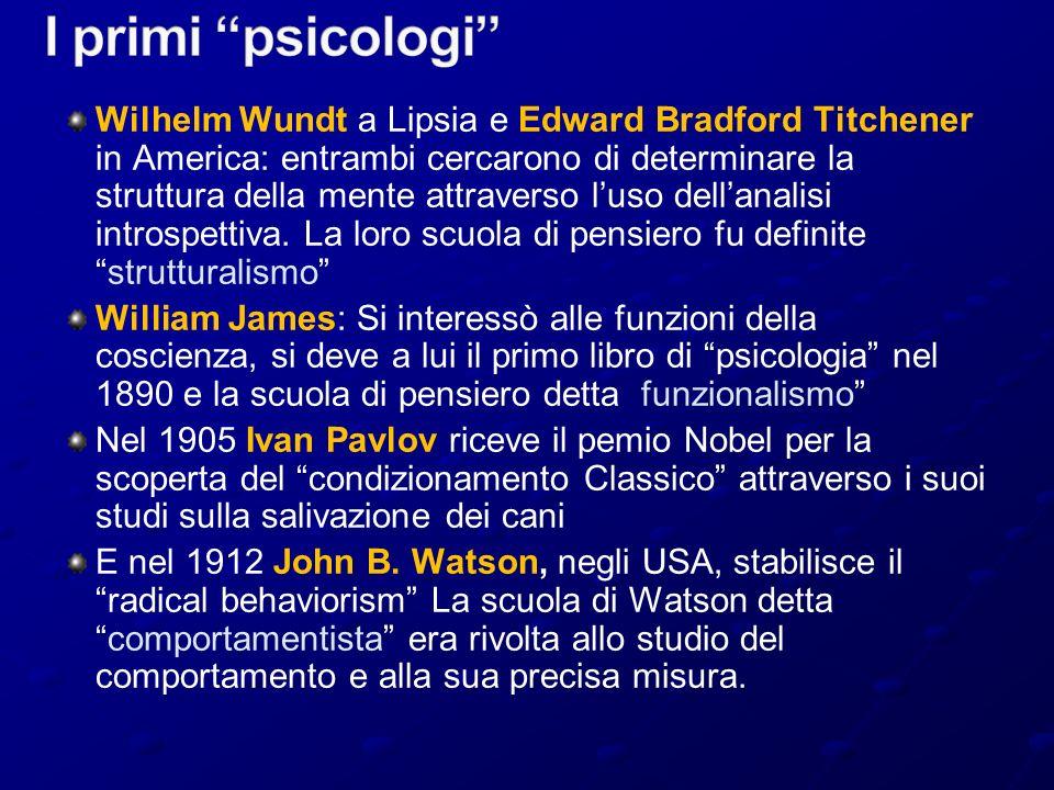 I primi psicologi