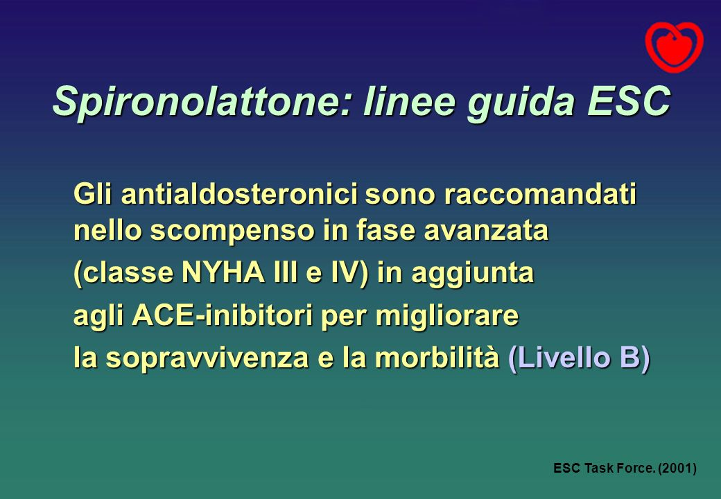 Spironolattone: linee guida ESC