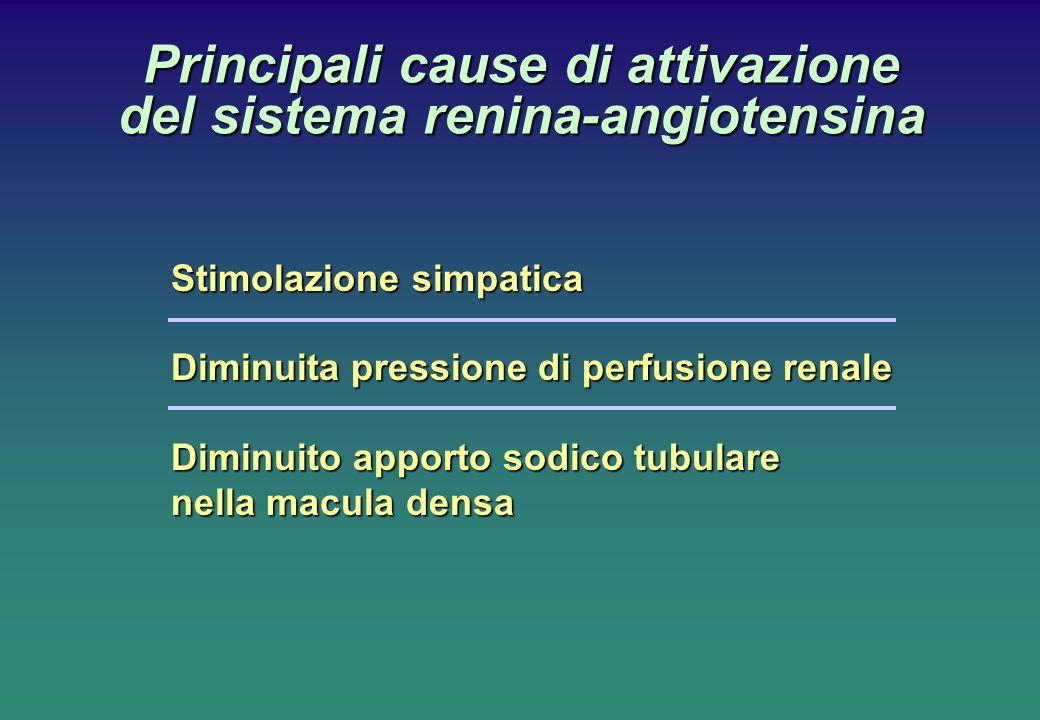 Principali cause di attivazione del sistema renina-angiotensina