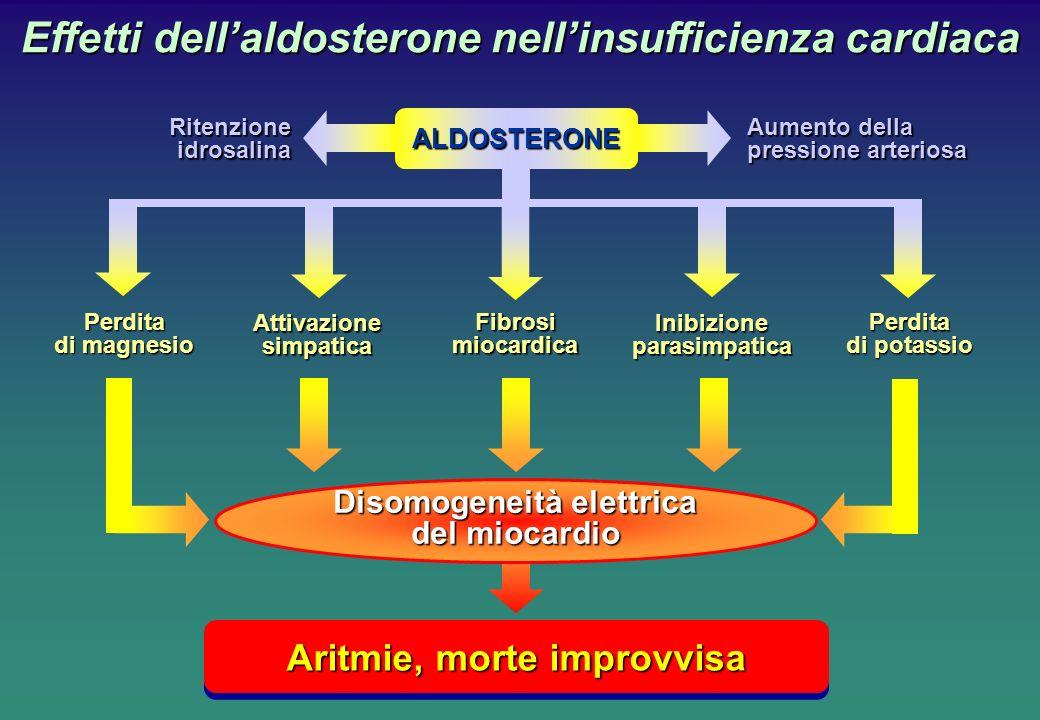 Effetti dell'aldosterone nell'insufficienza cardiaca