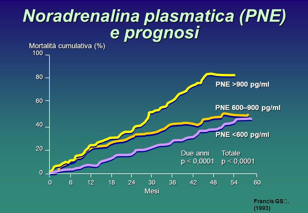 Noradrenalina plasmatica (PNE) e prognosi