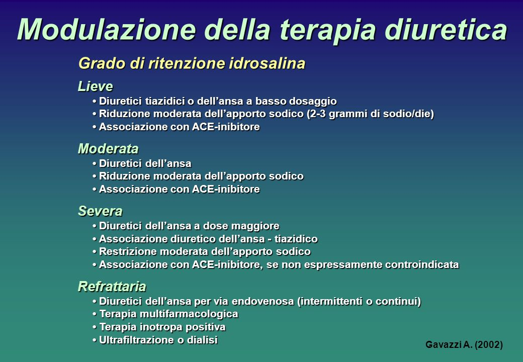 Modulazione della terapia diuretica