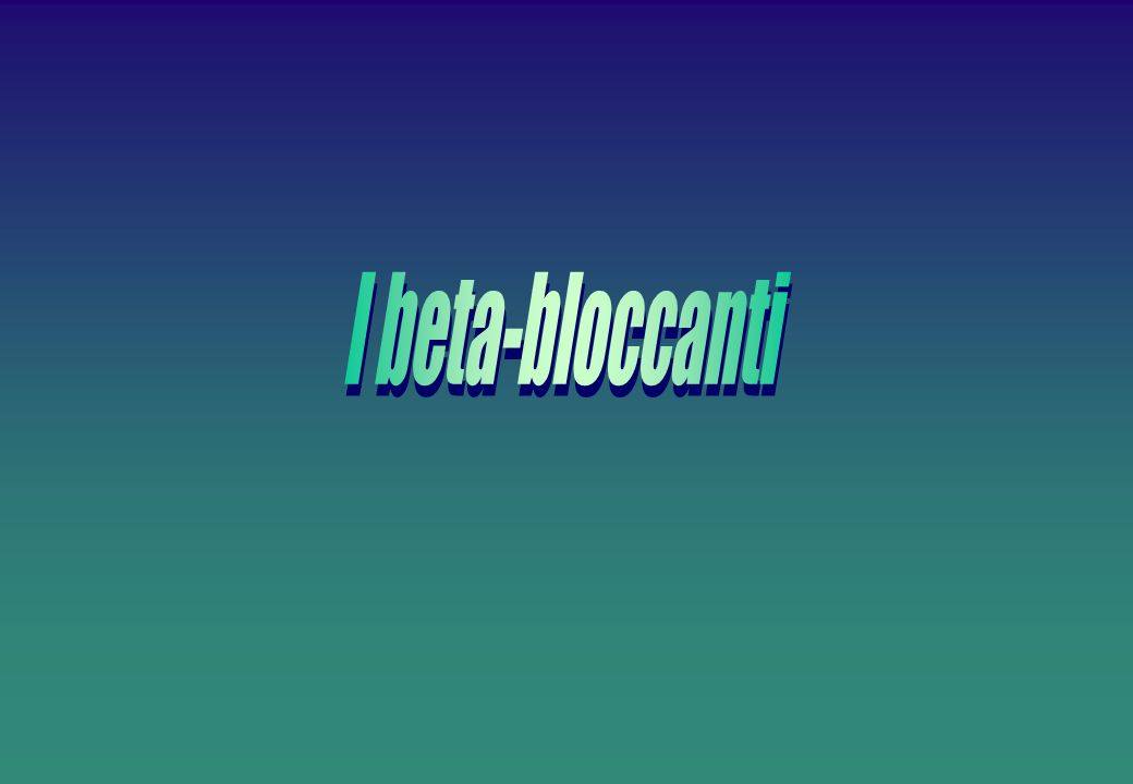 I beta-bloccanti