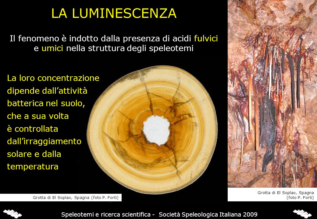 LUMINESCENZA & DATAZIONI Attivando la luminescenza con luce UV,