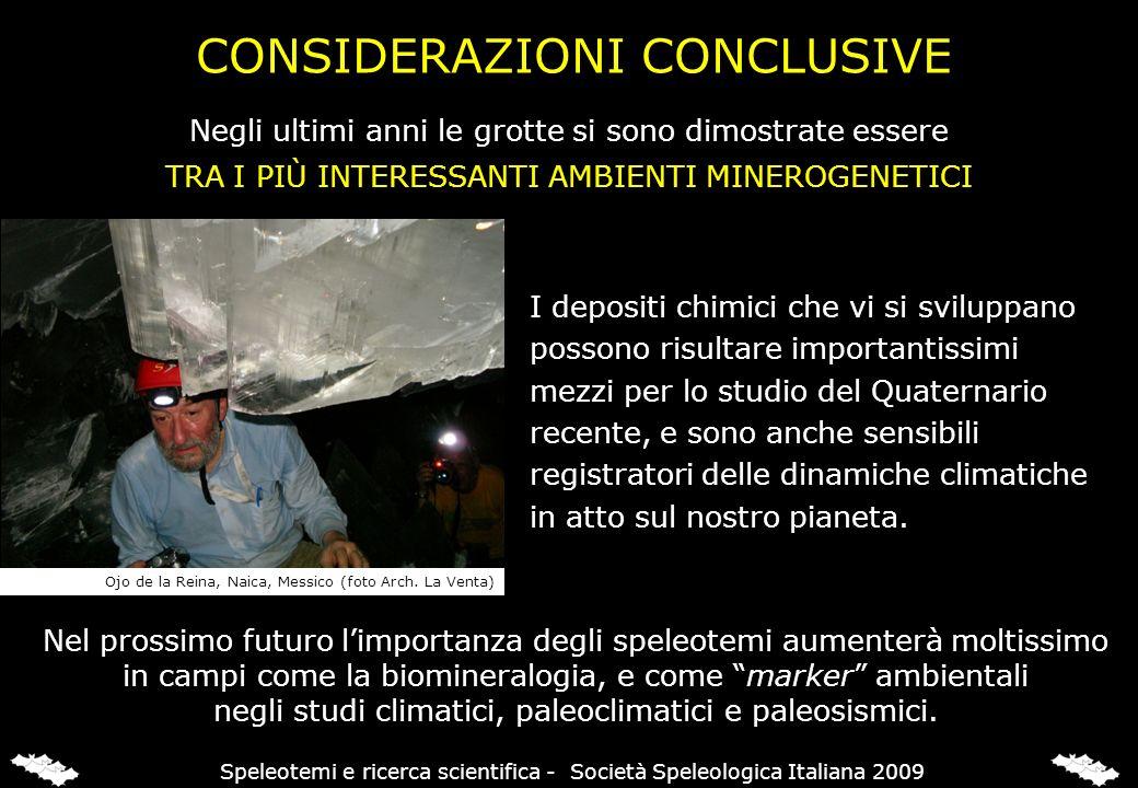 Speleotemi e ricerca scientifica - Società Speleologica Italiana 2009
