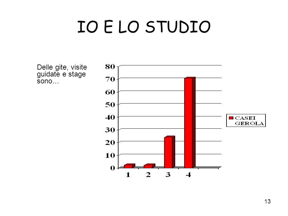 IO E LO STUDIO Delle gite, visite guidate e stage sono…