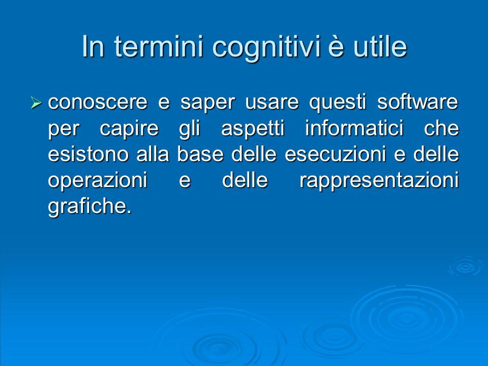 In termini cognitivi è utile