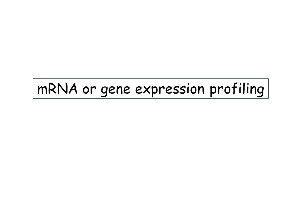 mRNA or gene expression profiling