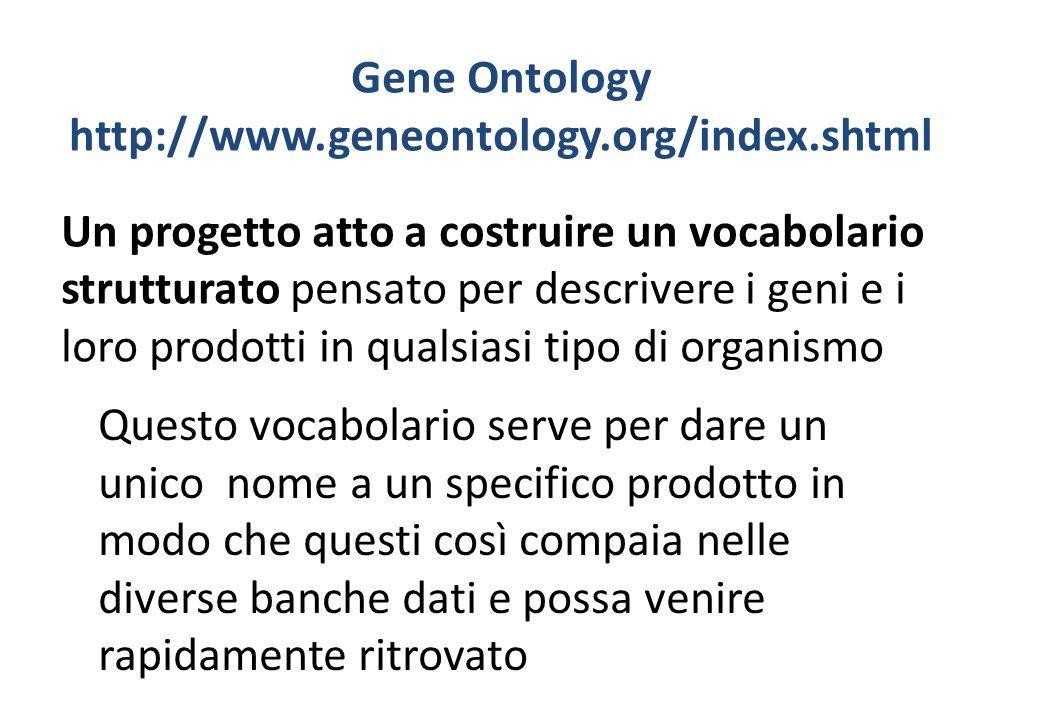 Gene Ontology http://www.geneontology.org/index.shtml
