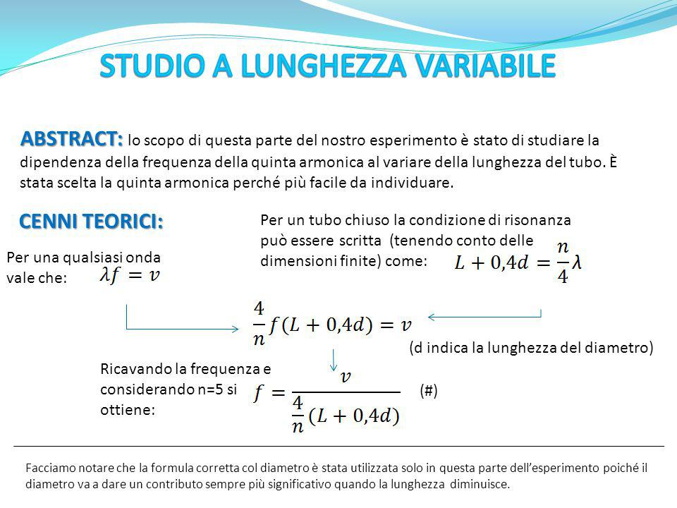 STUDIO A LUNGHEZZA VARIABILE