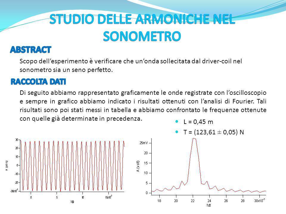 STUDIO DELLE ARMONICHE NEL SONOMETRO