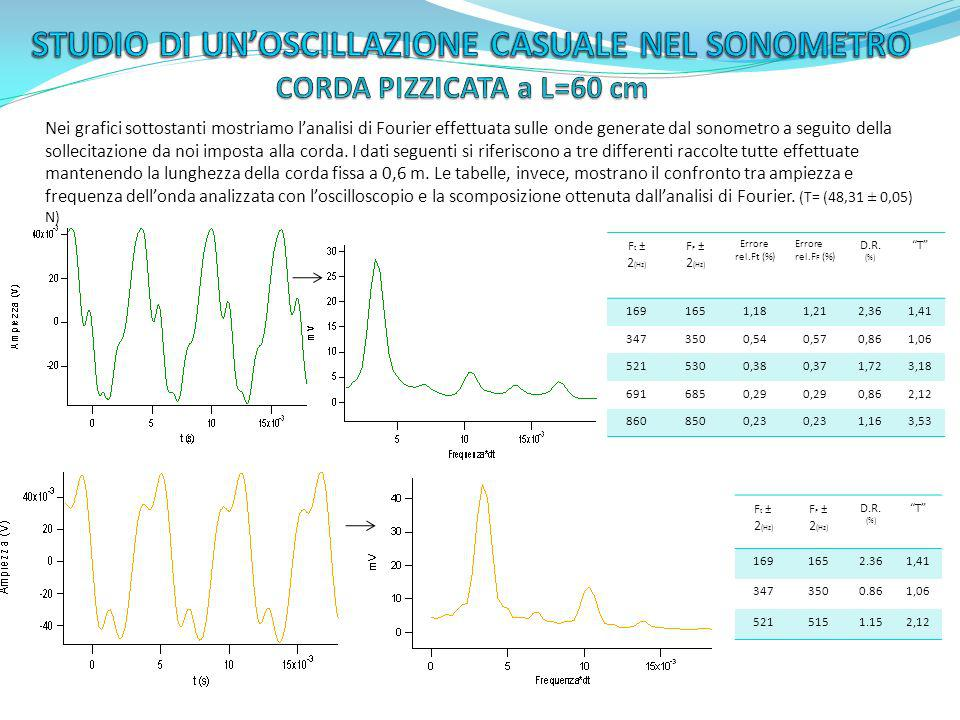 STUDIO DI UN'OSCILLAZIONE CASUALE NEL SONOMETRO