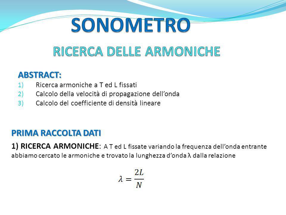 RICERCA DELLE ARMONICHE