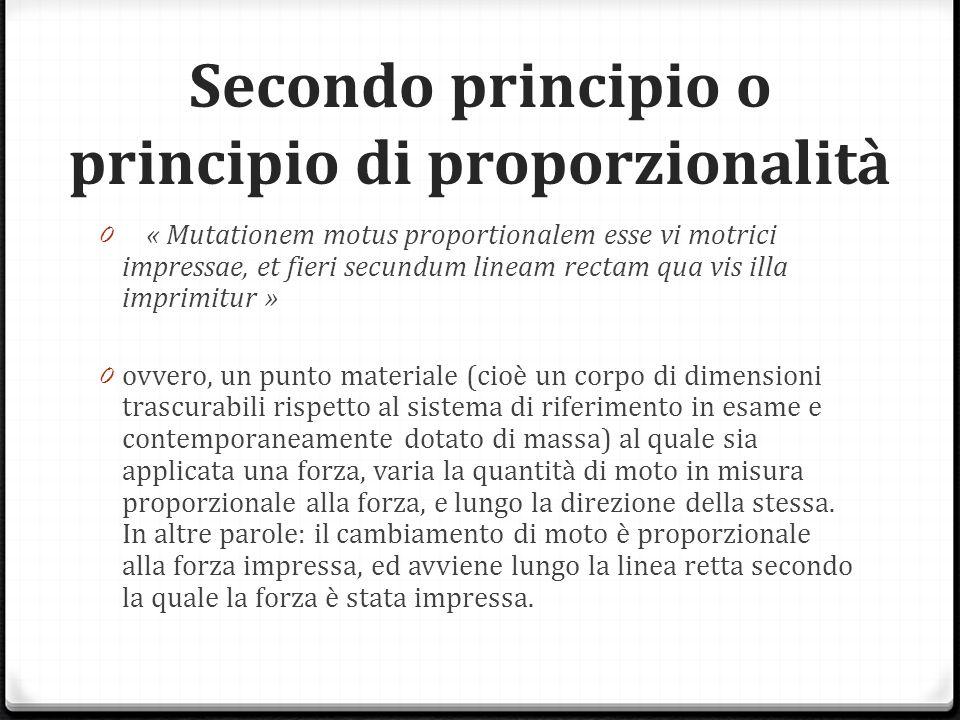 Secondo principio o principio di proporzionalità