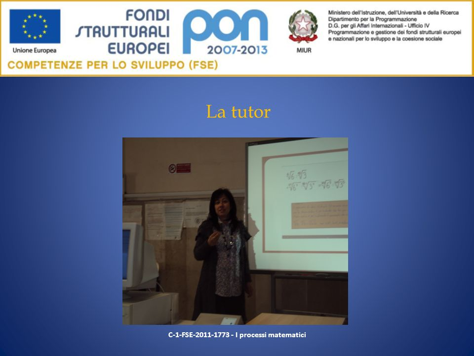 C-1-FSE-2011-1773 - I processi matematici