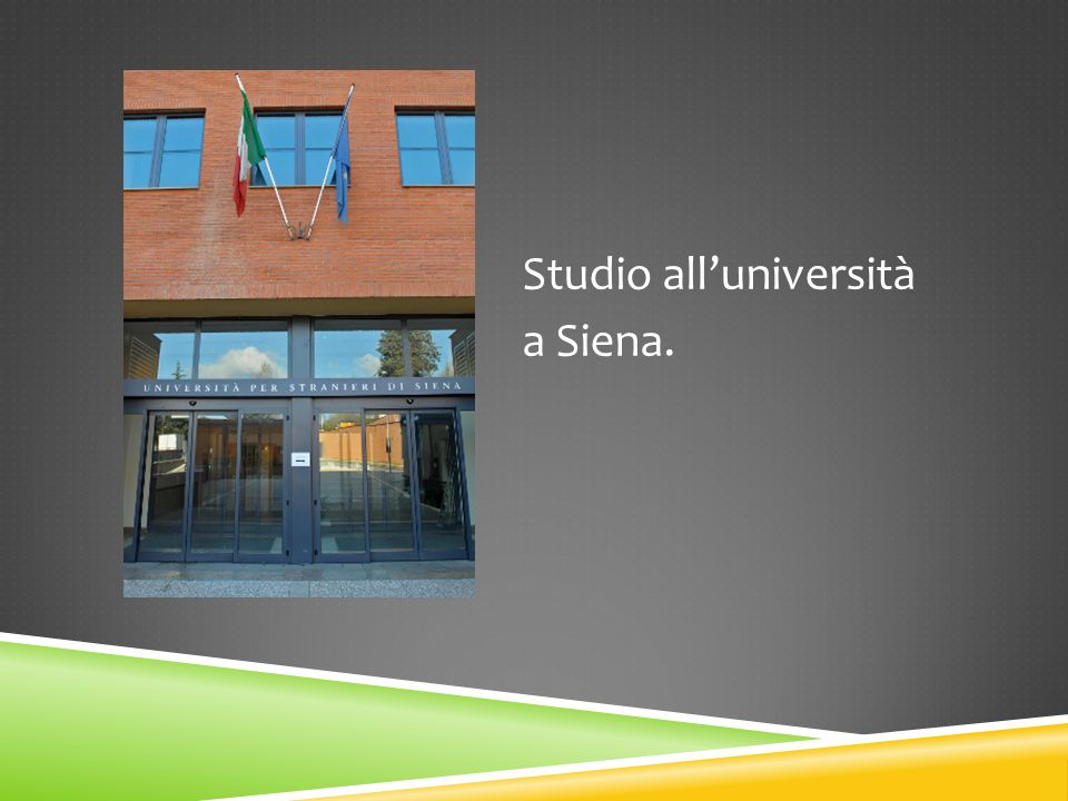 Studio all'università a Siena.