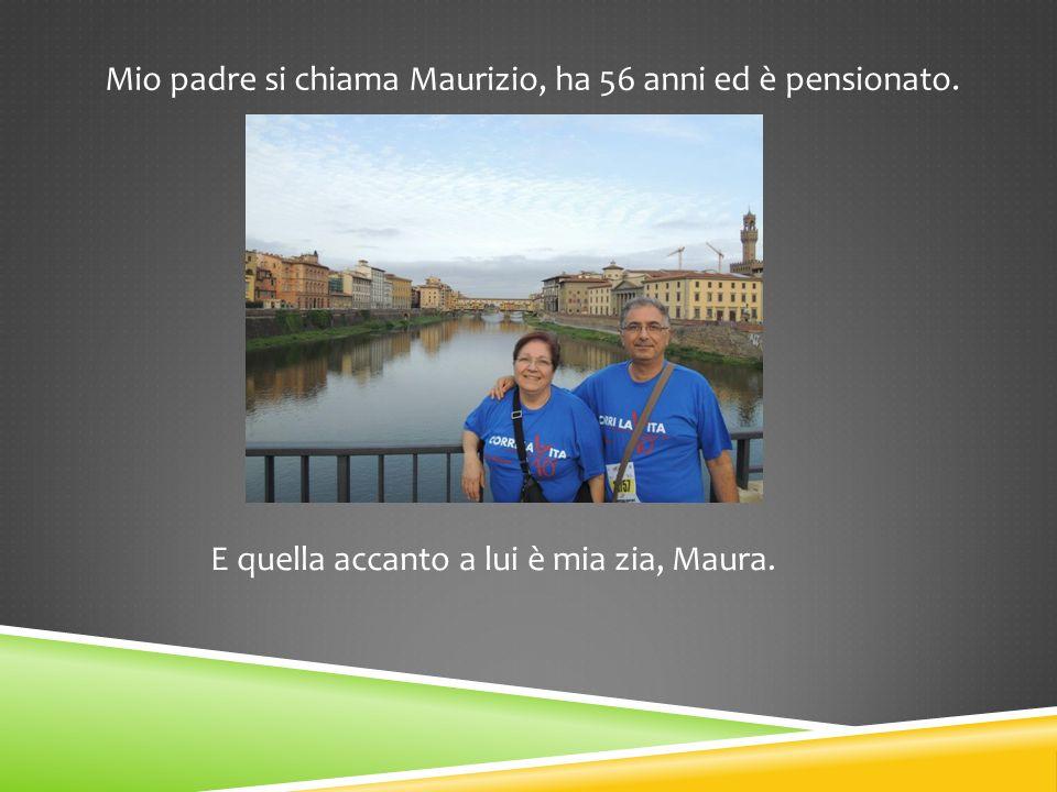Mio padre si chiama Maurizio, ha 56 anni ed è pensionato.