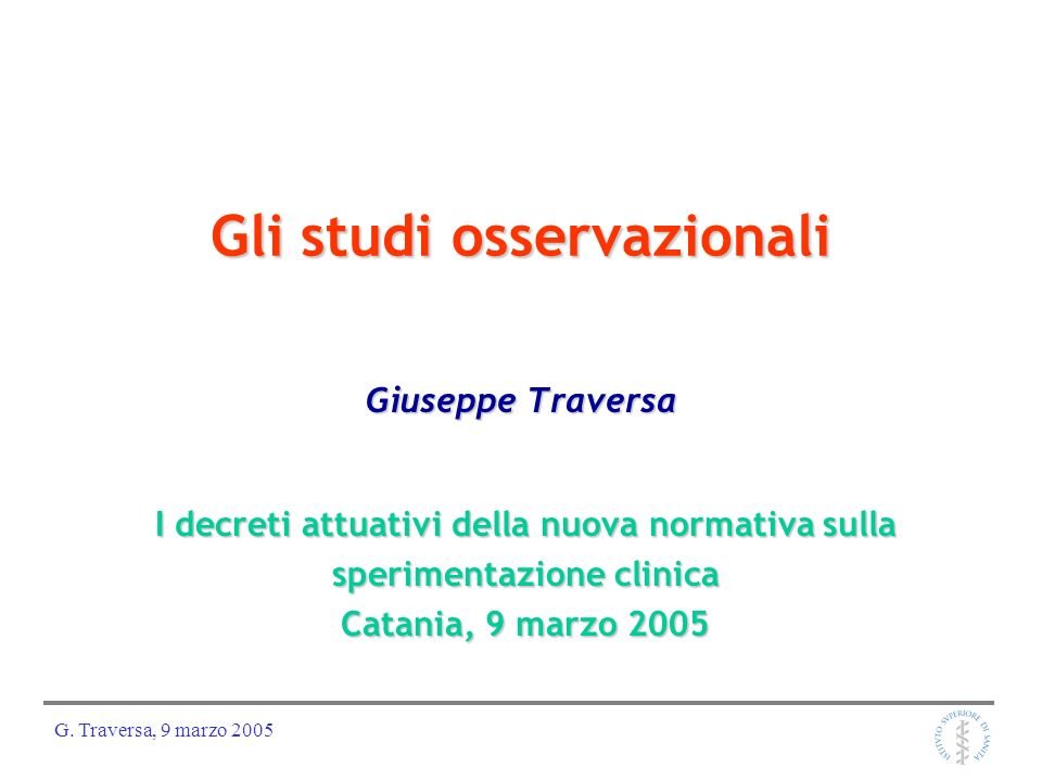 Gli studi osservazionali