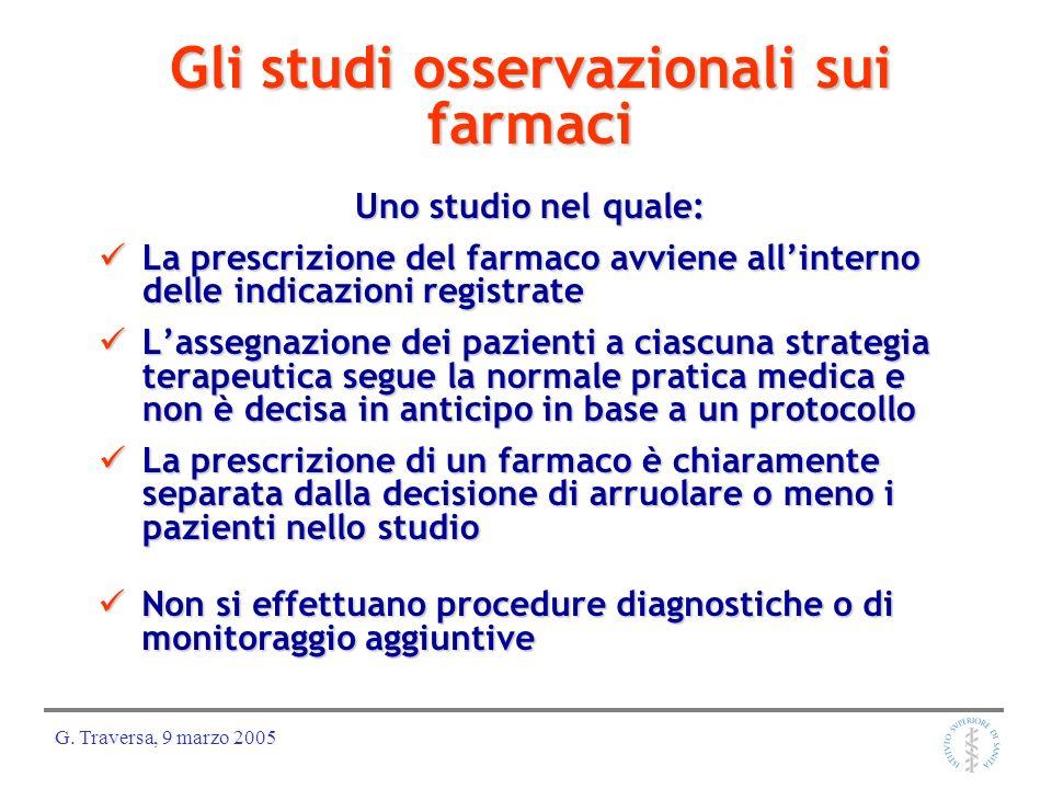 Gli studi osservazionali sui farmaci