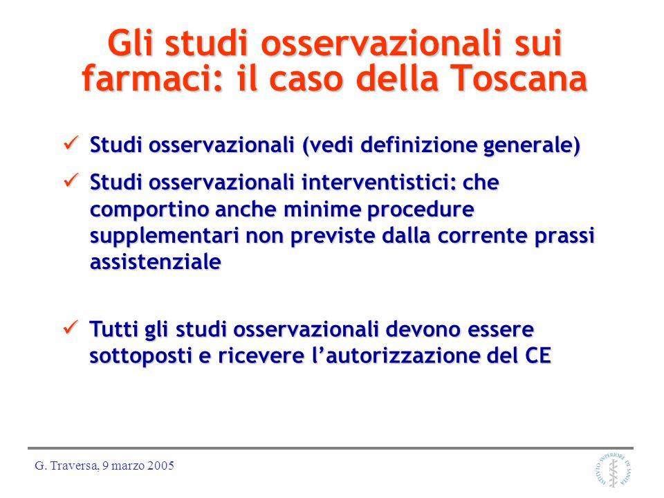 Gli studi osservazionali sui farmaci: il caso della Toscana