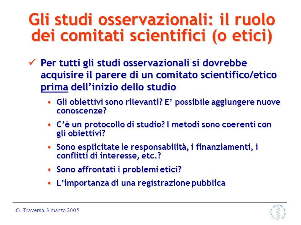 Gli studi osservazionali: il ruolo dei comitati scientifici (o etici)