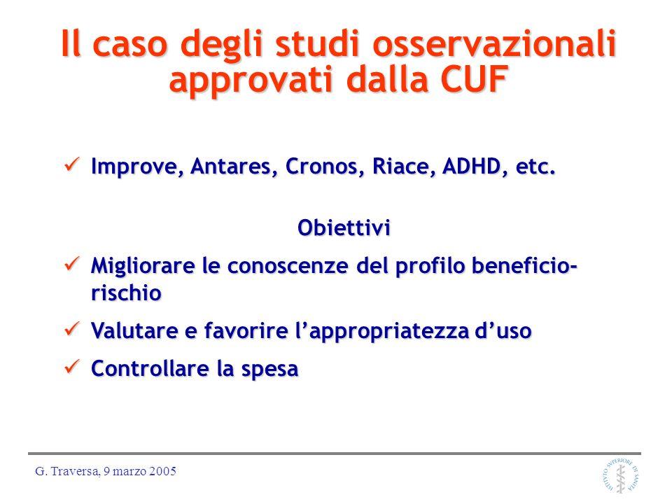 Il caso degli studi osservazionali approvati dalla CUF