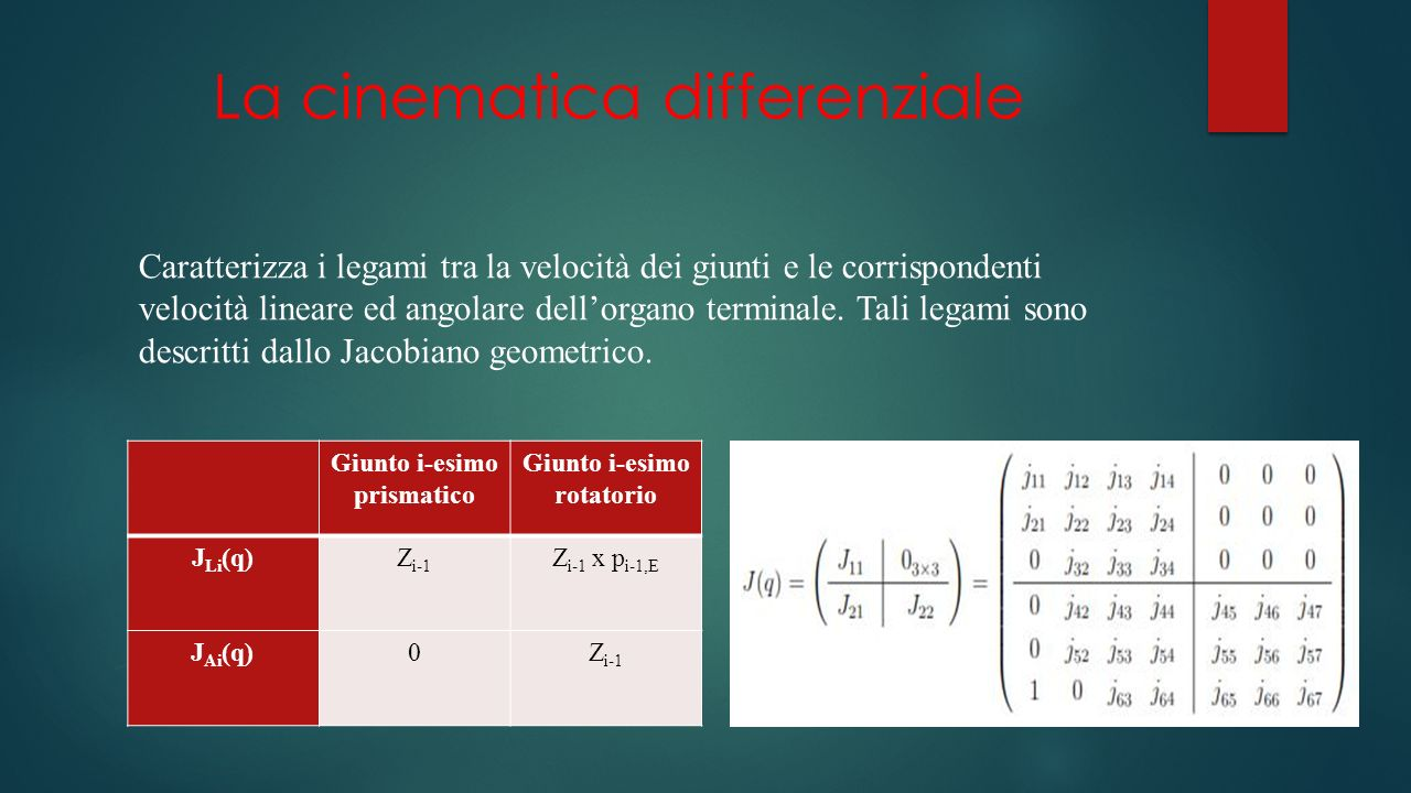 La cinematica differenziale