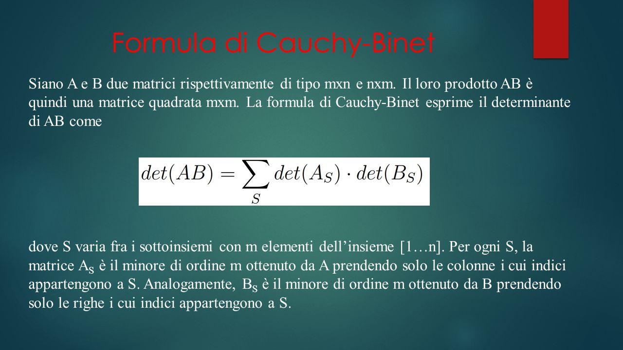 Formula di Cauchy-Binet
