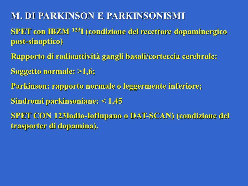 M. DI PARKINSON E PARKINSONISMI