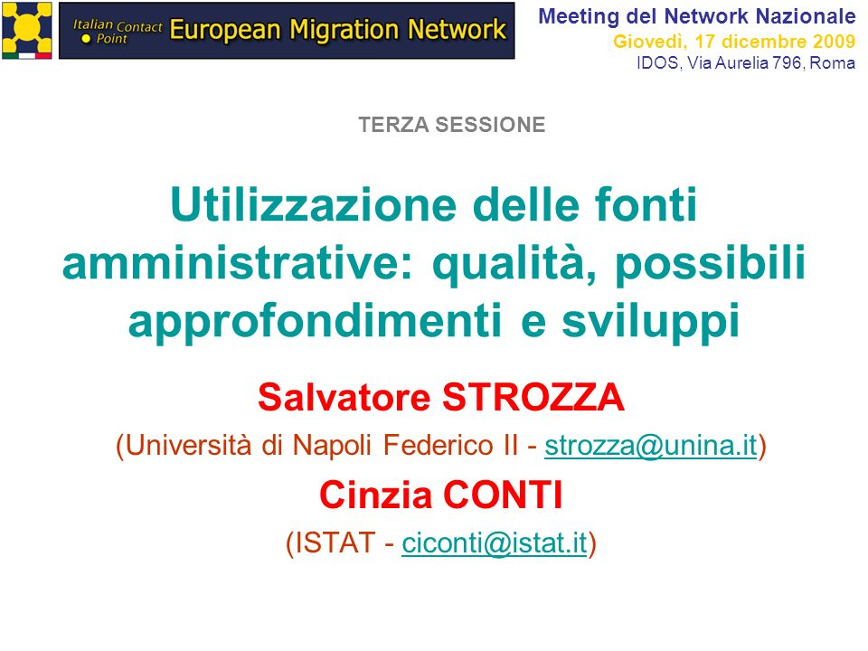 Meeting del Network Nazionale
