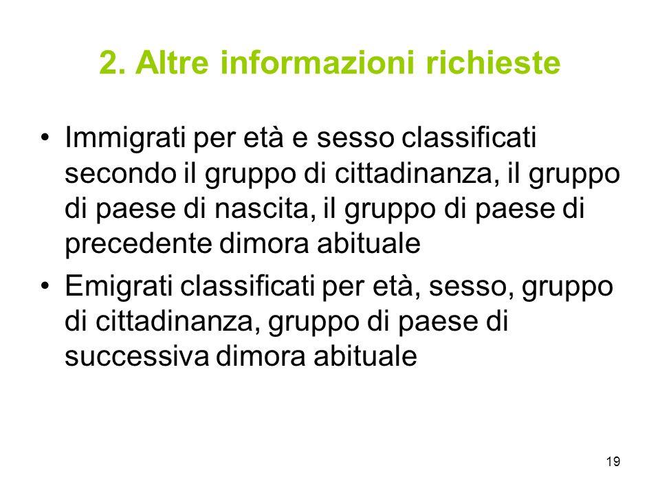 2. Altre informazioni richieste