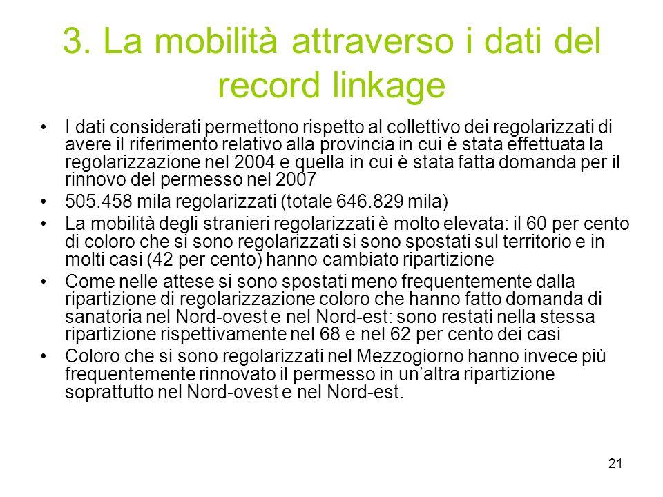 3. La mobilità attraverso i dati del record linkage