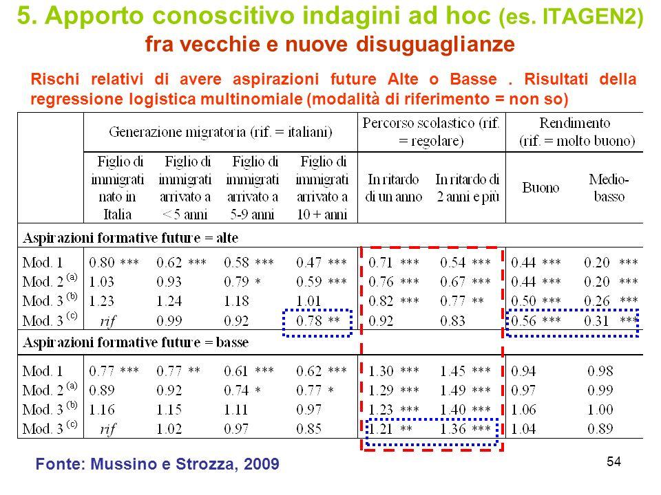 5. Apporto conoscitivo indagini ad hoc (es